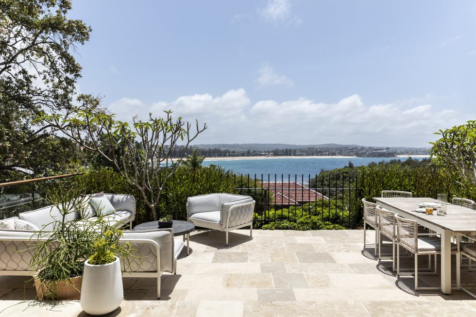 Interior design project in Manly showing a view out to Shelley Beach Sydney