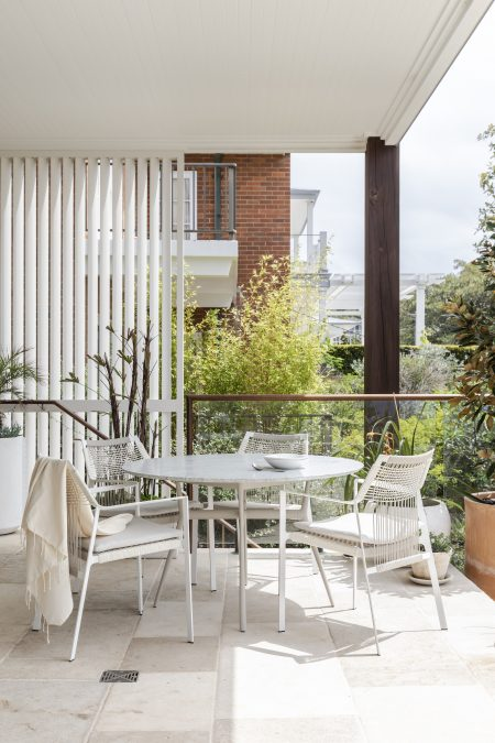 Interior design project in Manly showing outdoor furniture