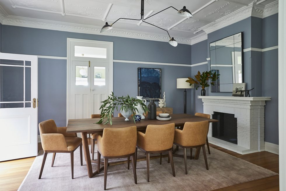 The dining room of a Californian Bungalow on Sydney's North Shore, designed and decorated by Alex Gourlay of Vellum Interiors