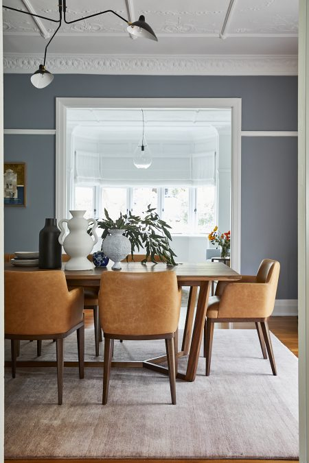 A dining room in a heritage home on Sydney's North Shore with interior design and decoration by Alex Gourlay of Vellum Interiors
