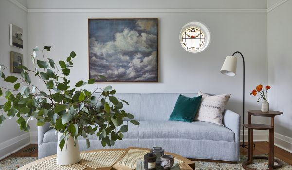 A bright, light and contemporary living room in a Californian Bungalow in Sydney, designed by Vellum Interiors