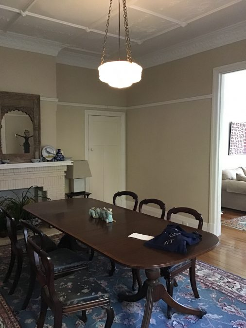 """The dining room of our Shirley Rd project, in its """"Before"""" state. Before and After Interior Design Project"""