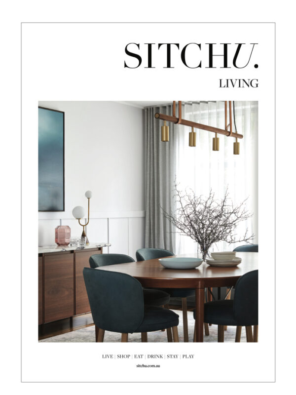 Cover of Sitchu Living magazine featuring work by Vellum Interiors